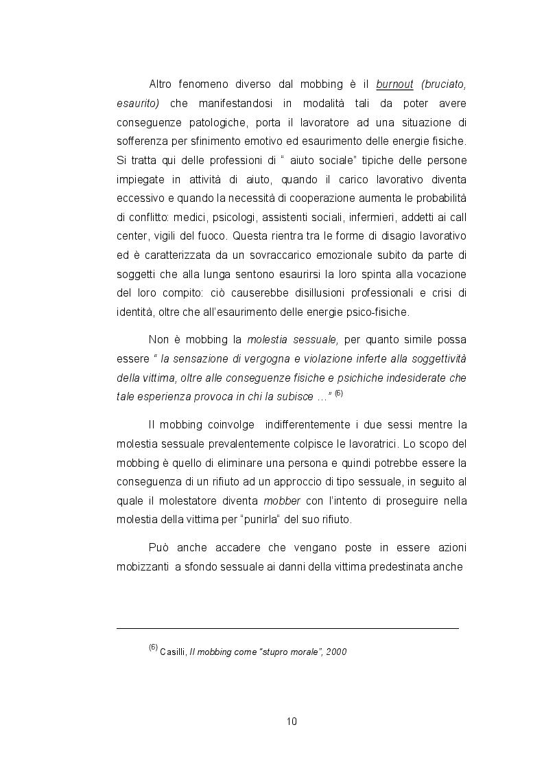 Estratto dalla tesi: Mobbing: panoramica del fenomeno e studio di un caso particolare