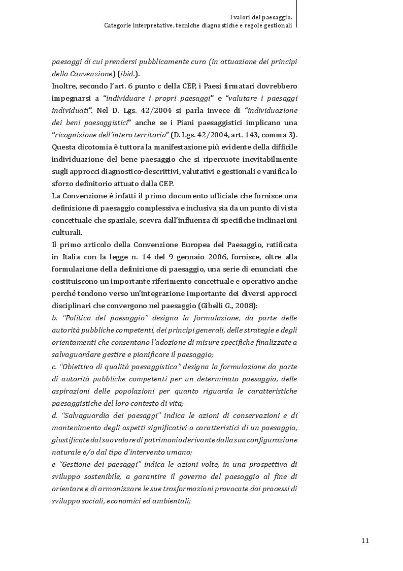 Estratto dalla tesi: I valori del paesaggio: categorie interpretative, tecniche diagnostiche e regole gestionali