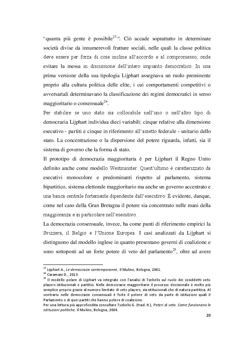Estratto dalla tesi: Competere e controllare nelle grandi democrazie europee. Analisi comparata sulla qualità della democrazia in Gran Bretagna, Francia, Spagna, Germania ed Italia.