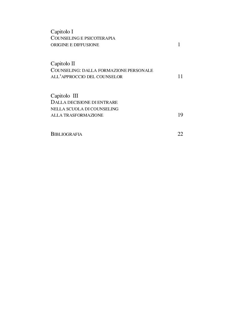 Indice della tesi: Creare, Fecondare e trasformarsi, Pagina 1