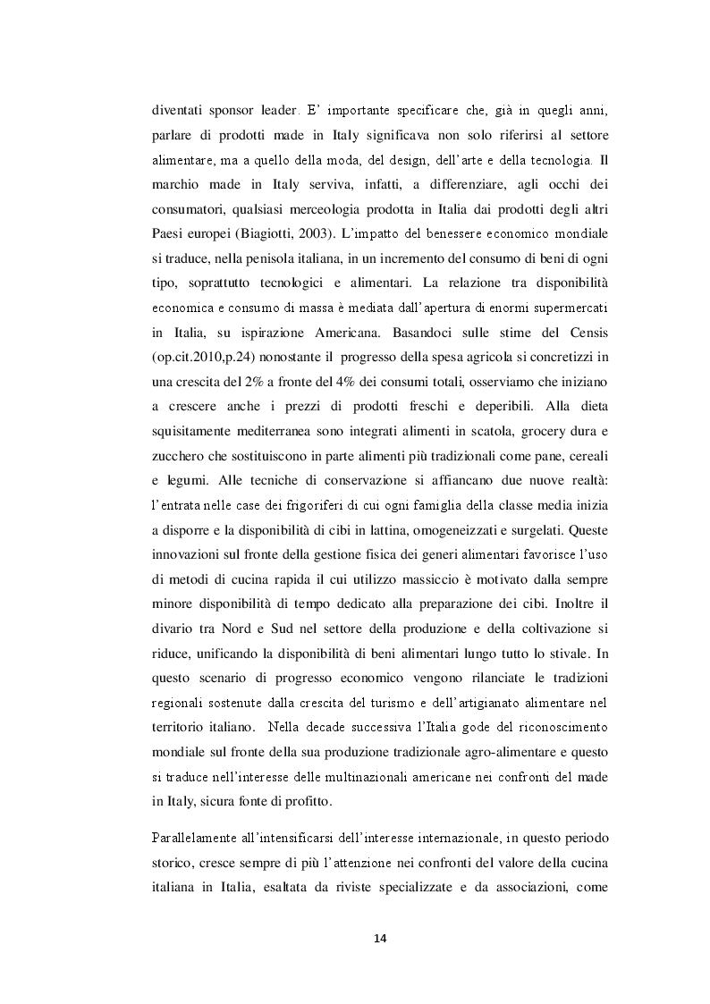 Estratto dalla tesi: Il ruolo del Made in Italy nella reputazione alimentare: uno studio pilota