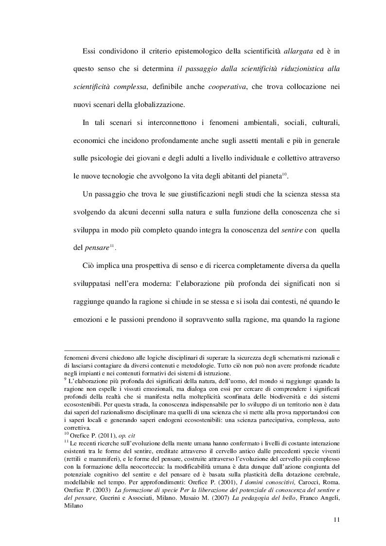 Estratto dalla tesi: Il processo formativo e il bilancio sociale. Dalle conoscenze alle competenze. Dal monitoraggio al bilancio sociale