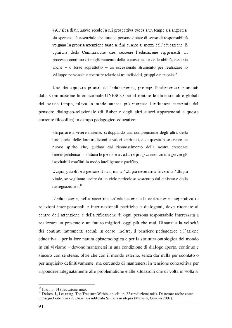 Estratto dalla tesi: «In principio è la relazione»: la filosofia dialogico-relazionale di Martin Buber e il suo contributo alla riflessione pedagogica contemporanea