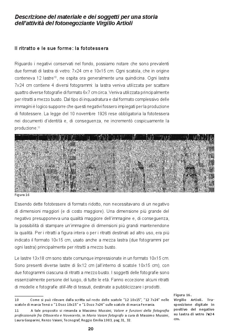 Estratto dalla tesi: La contemporaneità dell'archivio fotografico: i ritratti di Virgilio Artioli rivisitati da Christian Boltanski
