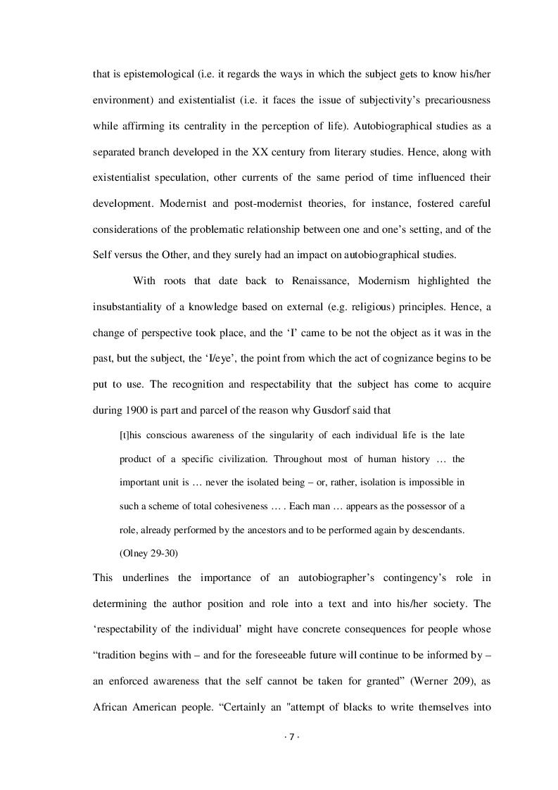 Estratto dalla tesi: Audre Lorde: Black Female Autobiography in Late XX Century