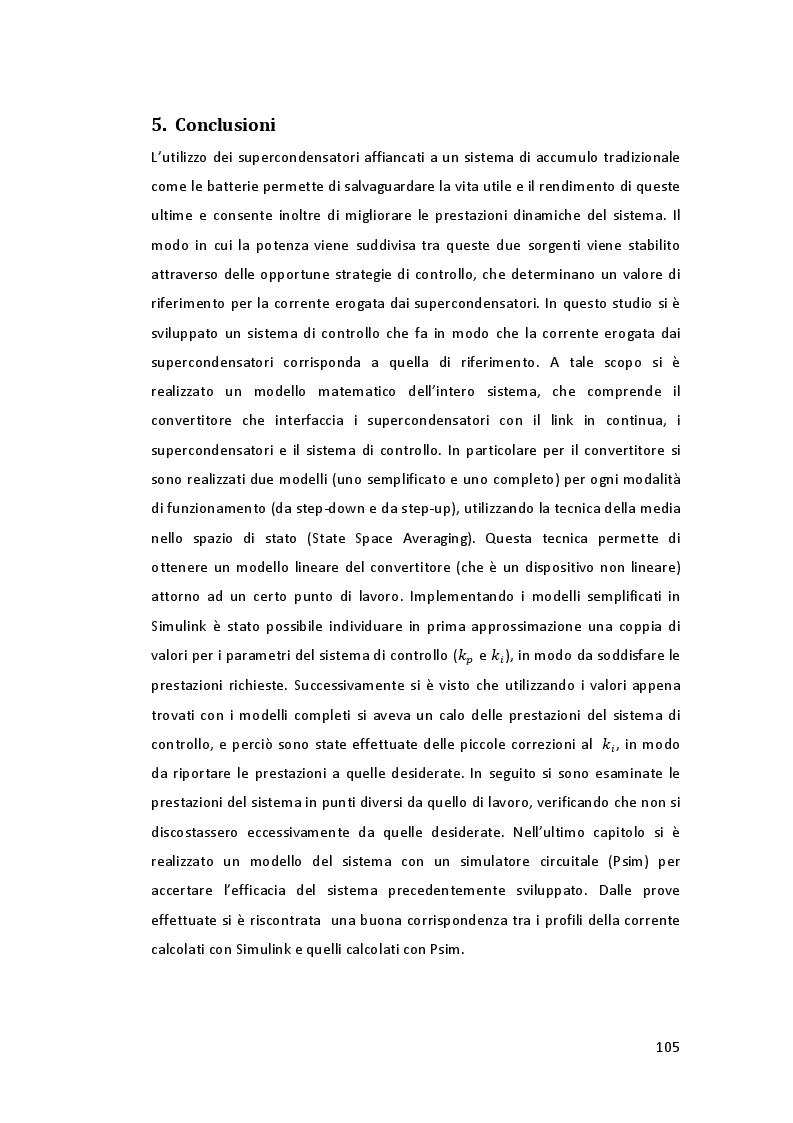 Estratto dalla tesi: Sviluppo del sistema di controllo per l'accumulo tramite supercondensatori