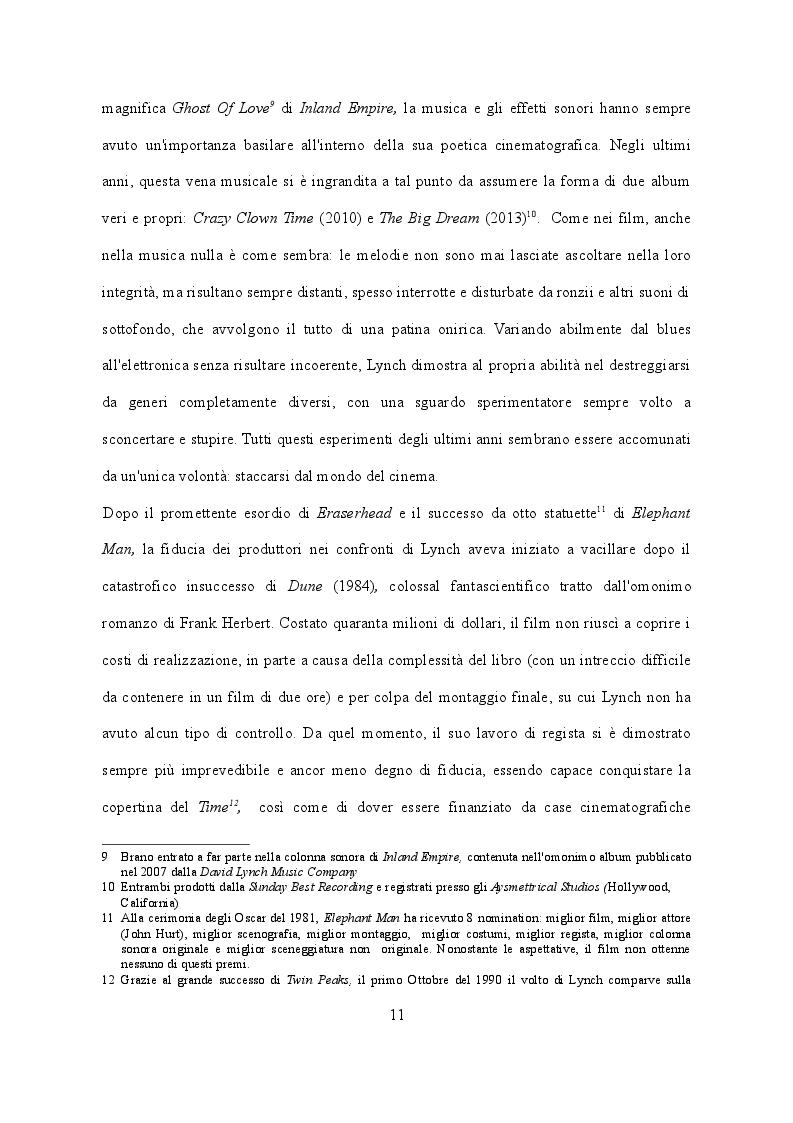 Estratto dalla tesi: David Lynch e Ronnie Rocket - Cronaca di un progetto mai realizzato