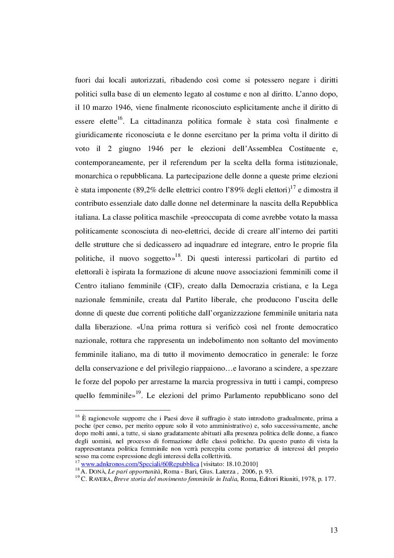 Estratto dalla tesi: Cittadine contro. Storie di donne e di politica nell'Italia degli Anni Settanta