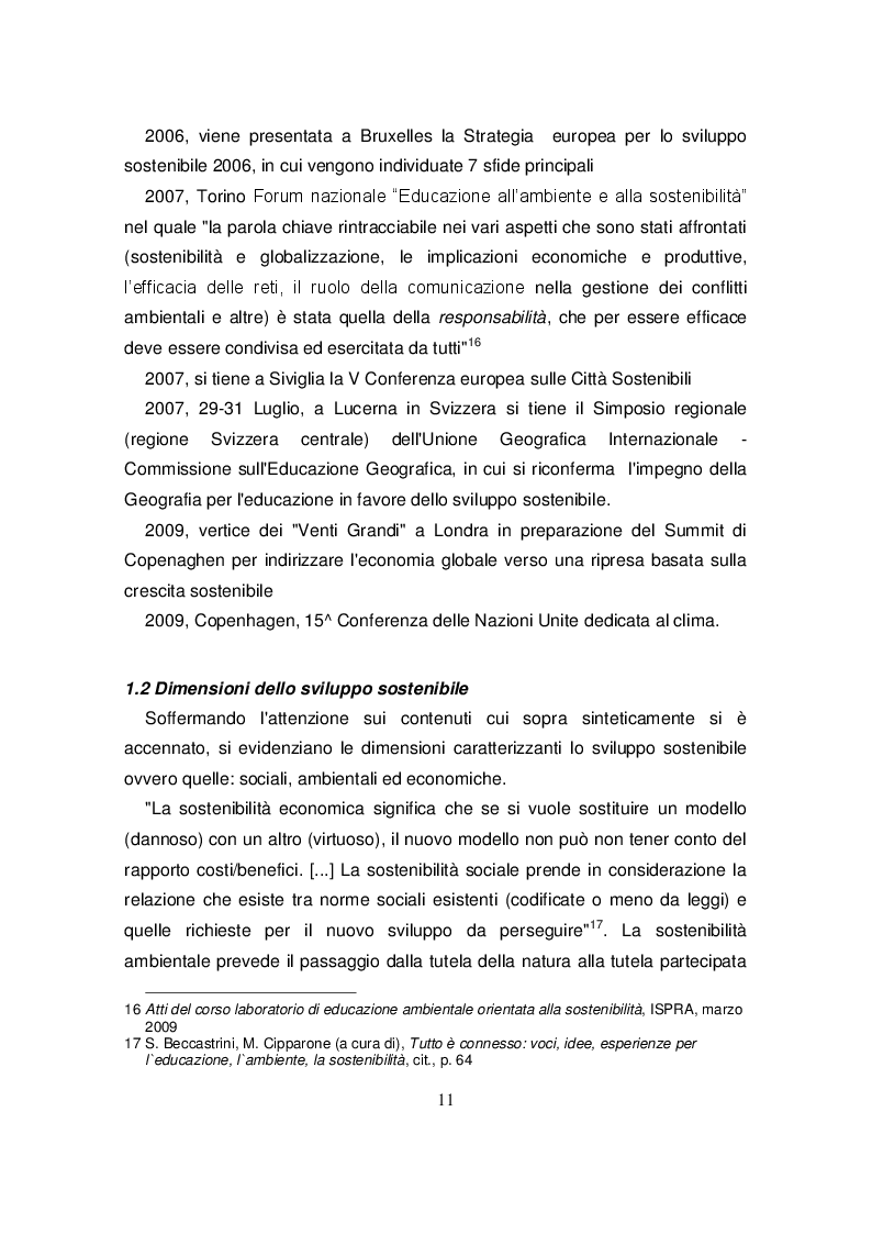 Estratto dalla tesi: Scuole primarie e centri per l'educazione ambientale e alla sostenibilità in Friuli Venezia Giulia: