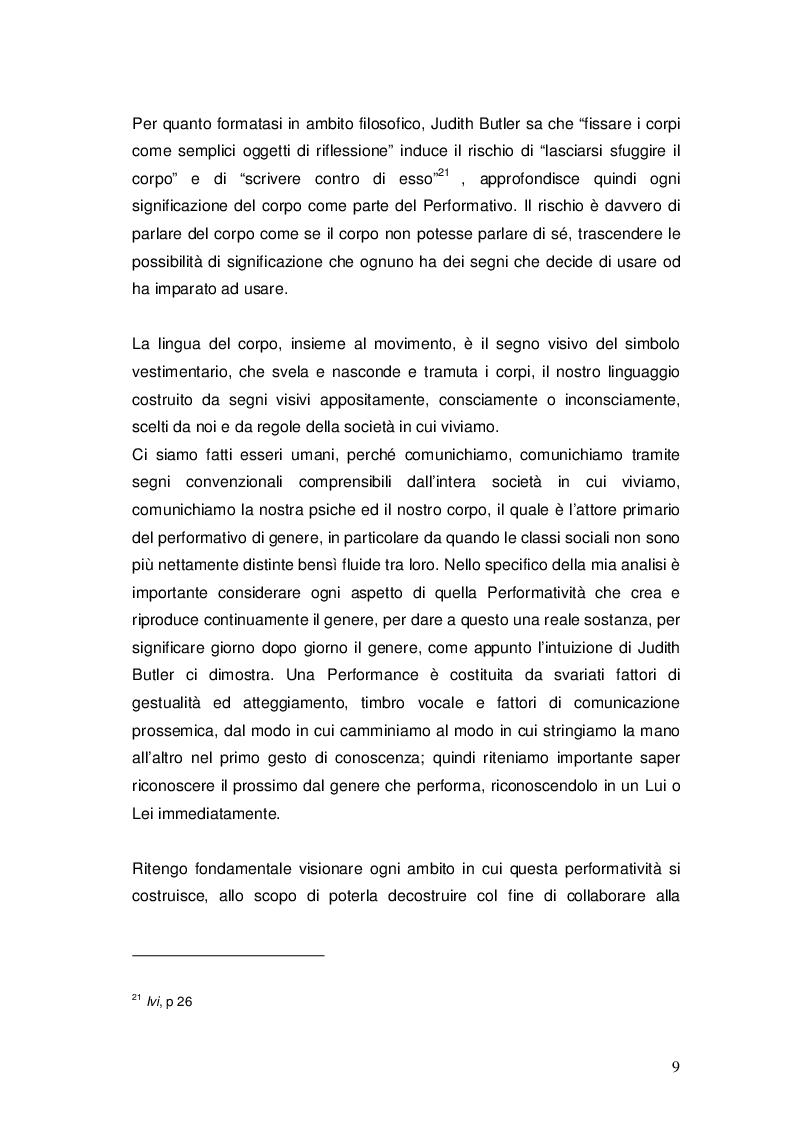 Estratto dalla tesi: Performativo e riconoscimento nella filosofia di Judith Butler