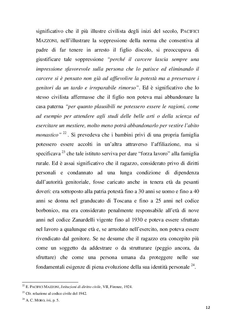 Estratto dalla tesi: L'interesse del minore nell'ordinamento giuridico
