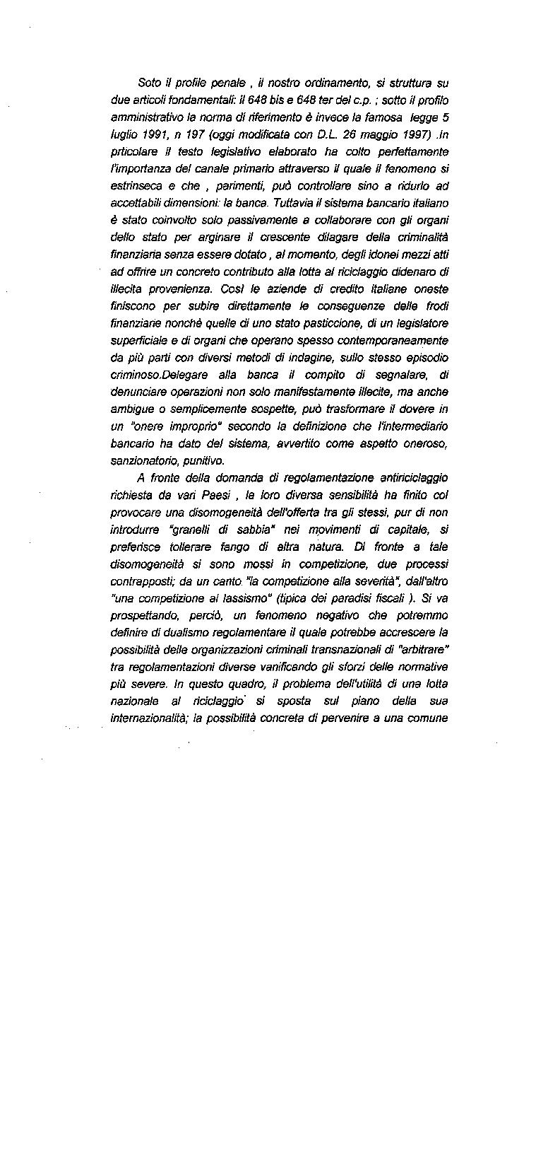 Anteprima della tesi: Il riciclaggio di proventi illeciti nel sistema finanziario contemporaneo, Pagina 8