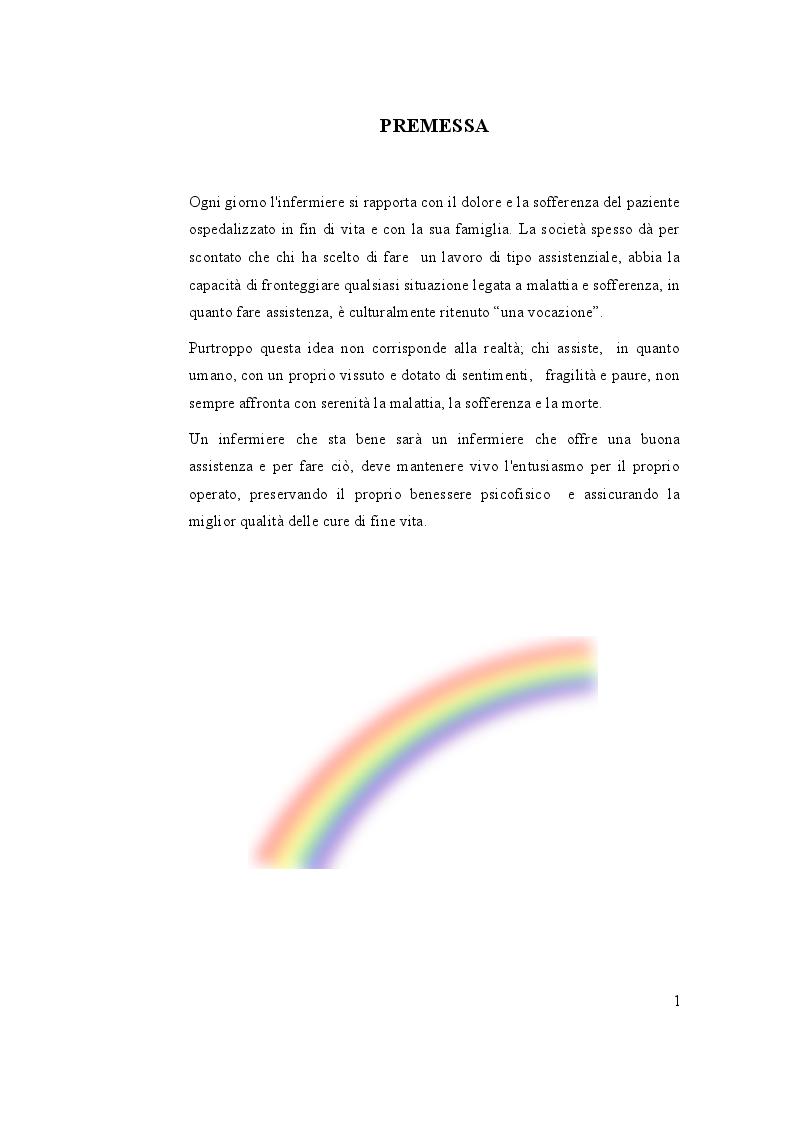 Anteprima della tesi: Cure di fine vita: Migliorare la qualità dell'assistenza e il benessere dell'infermiere che accompagna, Pagina 2