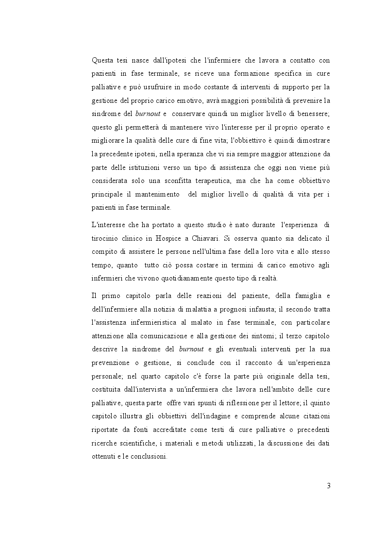 Anteprima della tesi: Cure di fine vita: Migliorare la qualità dell'assistenza e il benessere dell'infermiere che accompagna, Pagina 4