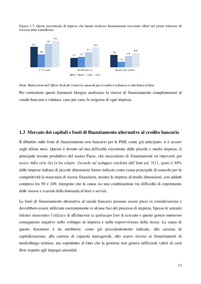 Estratto dalla tesi: Forme di finanziamento delle PMI e prospettive di utilizzo dei Minibond. Una indagine statistica sulla risposta del mercato.