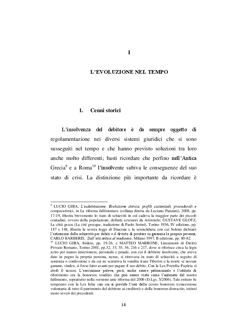 Estratto dalla tesi: L'esdebitazione nel nuovo sistema di diritto fallimentare