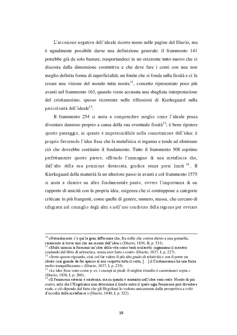 Estratto dalla tesi: La dialettica di ideale ed esperienza nel Diario di Kierkegaard