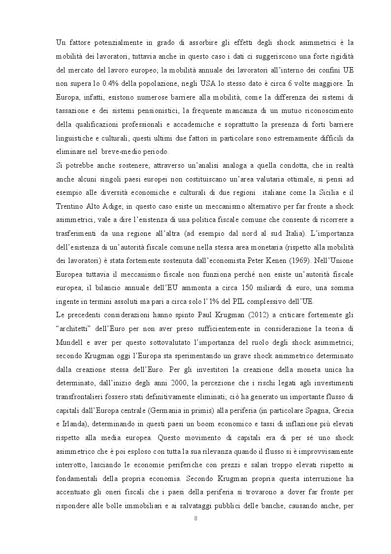 Estratto dalla tesi: L'Italia e l'Euro: sfide ed opportunità