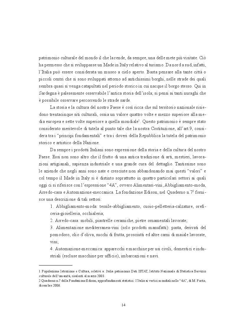 Estratto dalla tesi: Il Made in Italy Agro-Alimentare il ruolo dell'innovazione nella tradizione