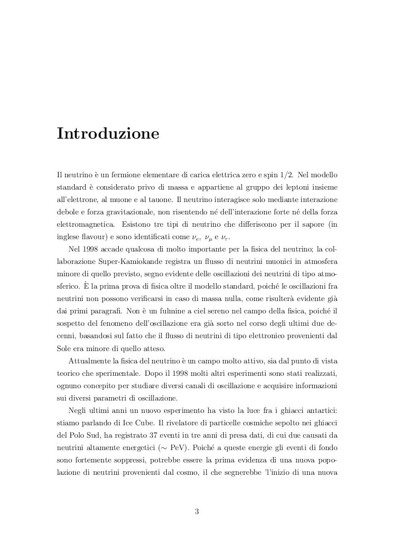 Anteprima della tesi: Fenomenologia delle oscillazioni di neutrini cosmici di alta energia, Pagina 2