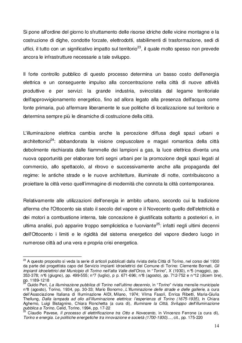 Estratto dalla tesi: Illuminazione e architettura: la luce elettrica alle esposizioni industriali di Torino del 1884 e del 1898
