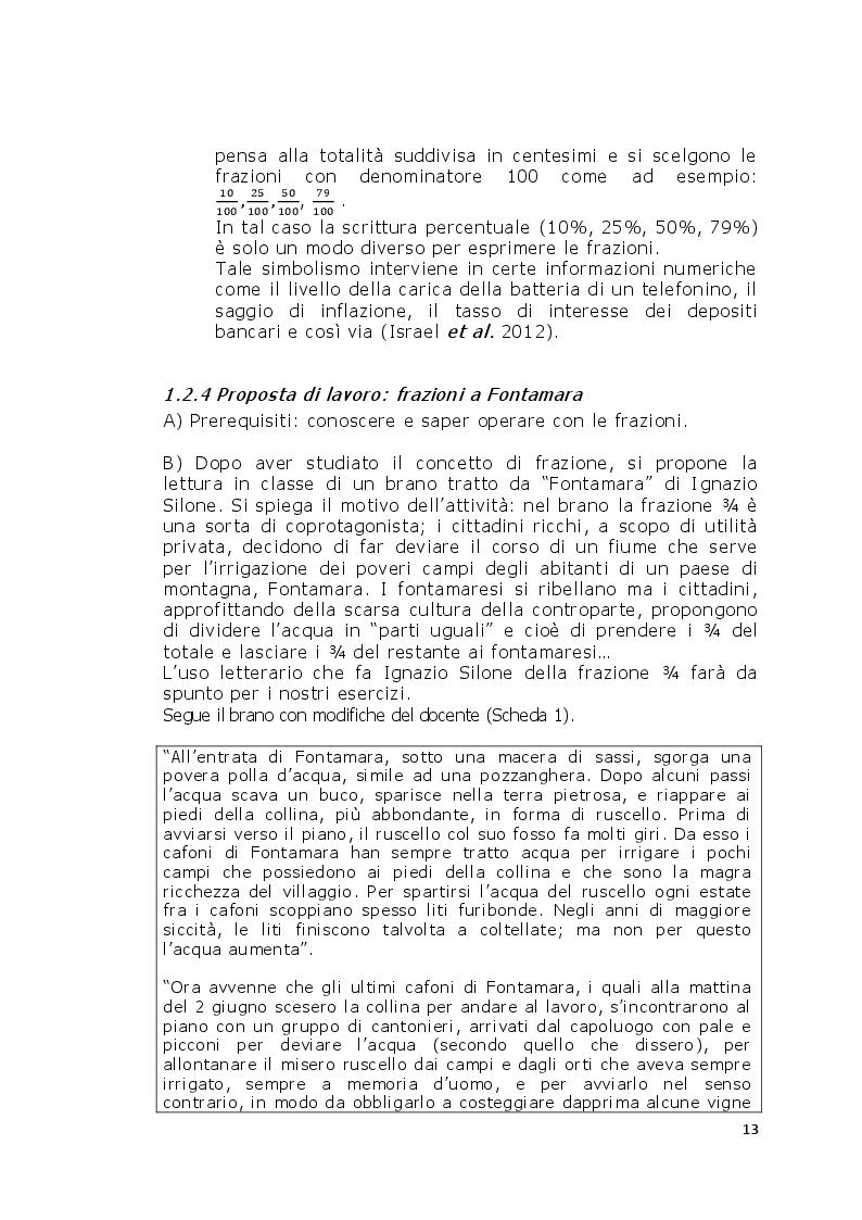 Estratto dalla tesi: Proposte didattiche per l'insegnamento della matematica in età adulta
