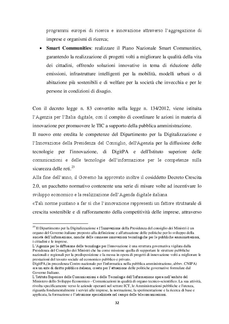 Estratto dalla tesi: L'Agenda digitale tra Europa e territorio: il caso di Bologna