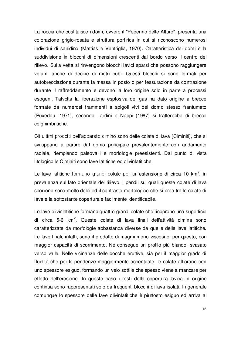 Estratto dalla tesi: Le falde sospese dell'acquifero vulcanico cimino-vicano: valutazione della loro potenzialità in termini quantitativi e qualitativi.