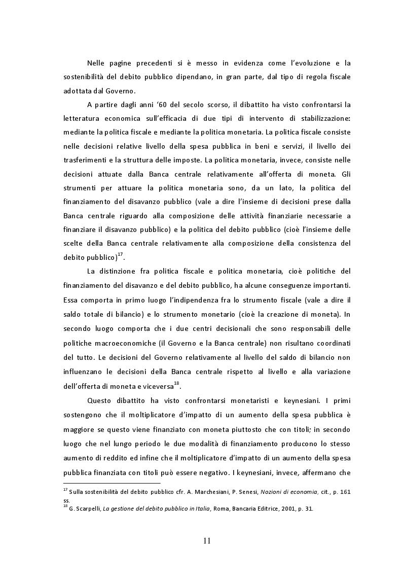Estratto dalla tesi: Il debito pubblico in Italia: l'evoluzione storica e l'incidenza della spesa per interessi dagli anni '90 ad oggi