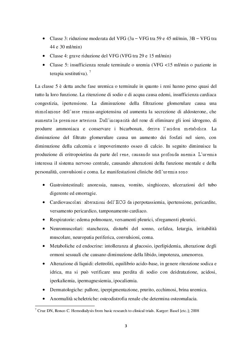 Estratto dalla tesi: L'importanza dell'esercizio fisico nella qualità di vita del paziente in trattamento emodialitico