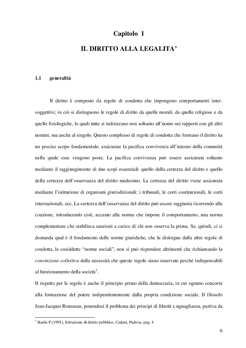Anteprima della tesi: La Cultura della Legalità nella didattica scolastica. Il Contributo delle Forze dell'Ordine. L'esperienza realizzata nelle scuole di Portici, Pagina 4