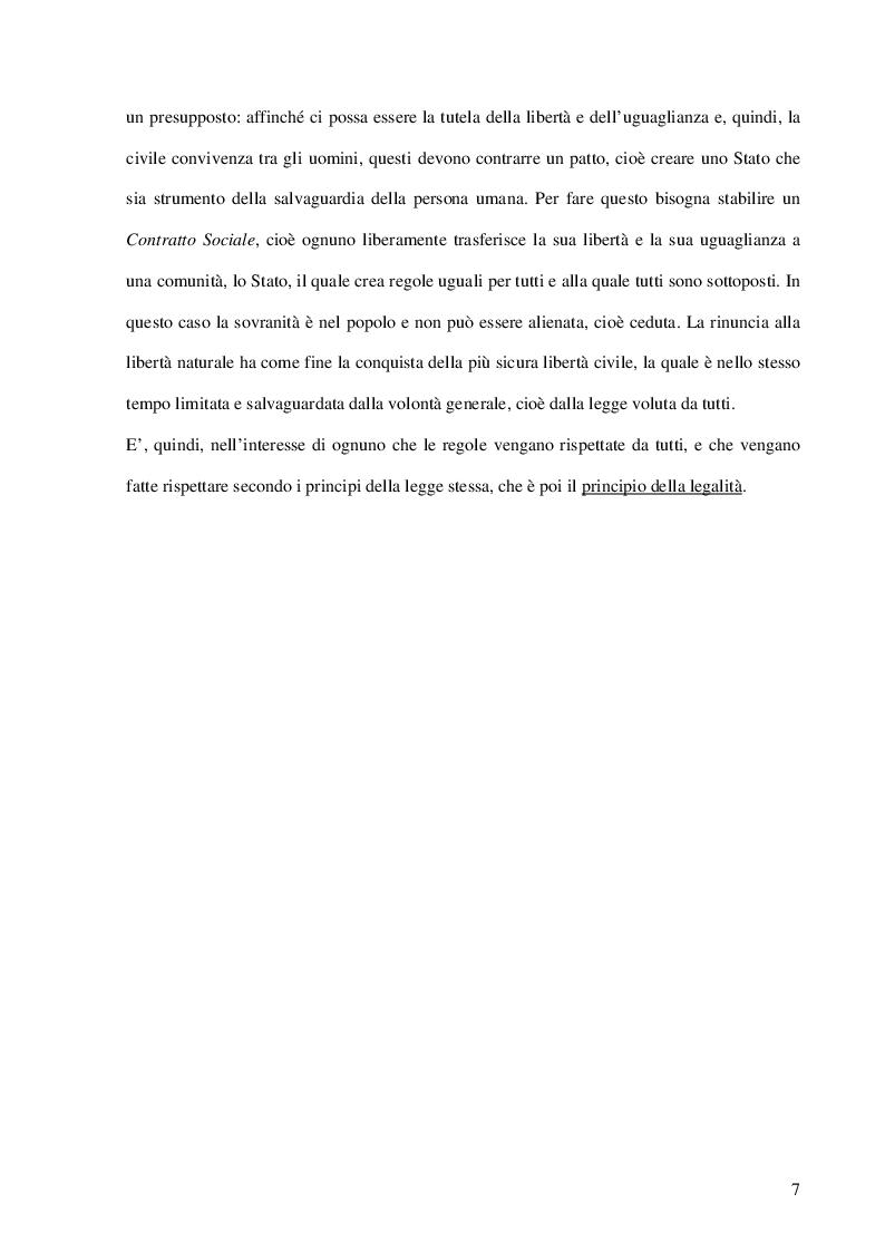 Anteprima della tesi: La Cultura della Legalità nella didattica scolastica. Il Contributo delle Forze dell'Ordine. L'esperienza realizzata nelle scuole di Portici, Pagina 5