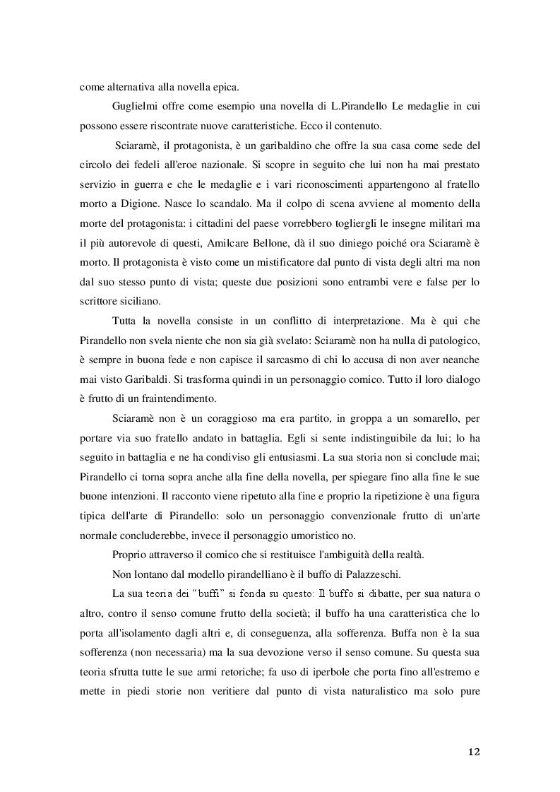 Estratto dalla tesi: Il racconto umoristico in Svevo e Pirandello