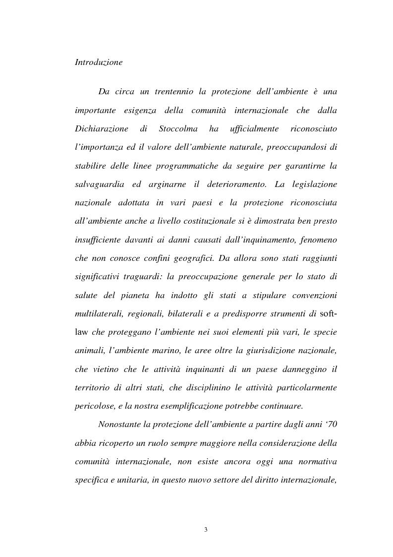 Anteprima della tesi: La protezione internazionale dell'ambiente durante i conflitti armati: il caso del Kosovo, Pagina 1
