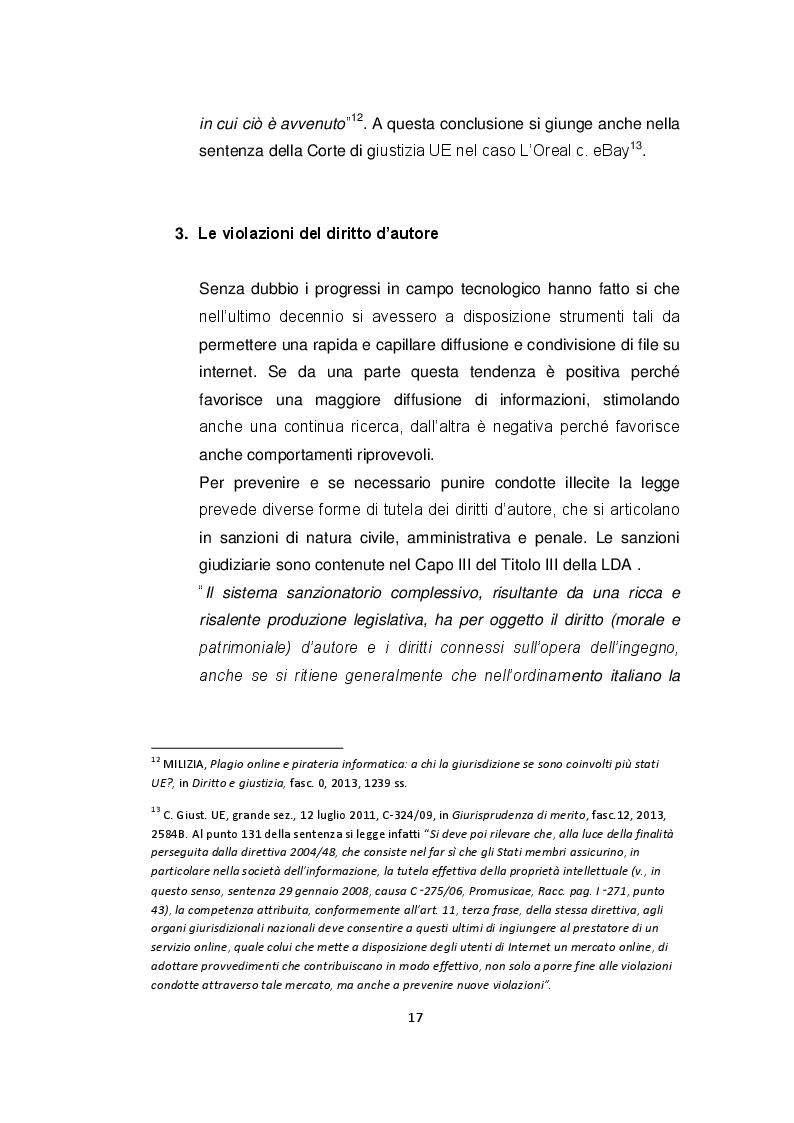 Estratto dalla tesi: Il diritto d'autore nella rete