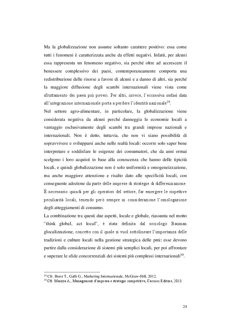 Estratto dalla tesi: La Diversificazione nelle Dinamiche Competitive del Settore Agroalimentare Pugliese: Analisi di un caso
