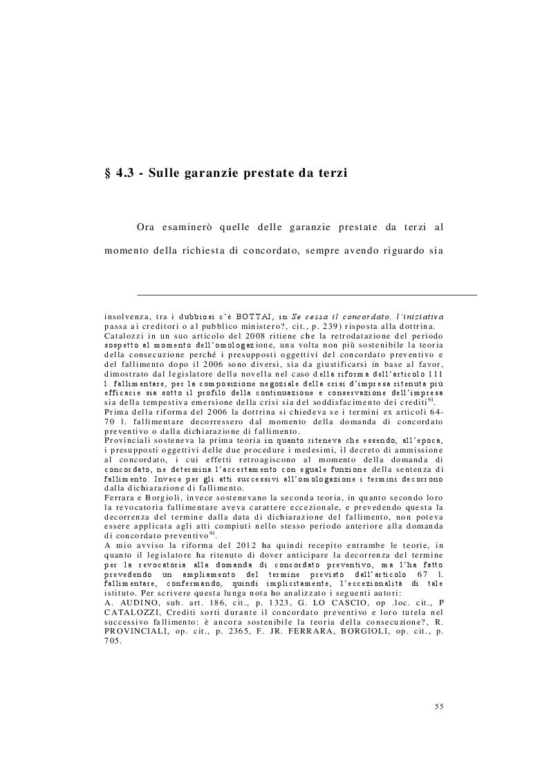Estratto dalla tesi: Annullamento del concordato preventivo