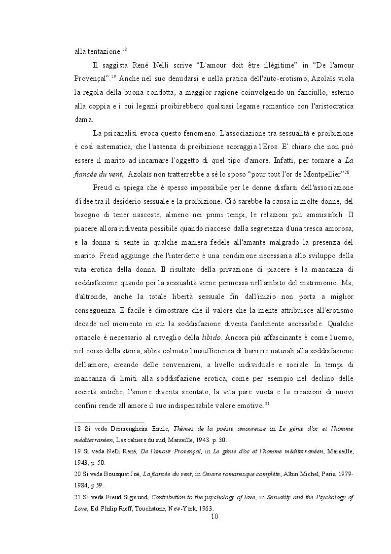 """Estratto dalla tesi: Amore e divieto ne """"La fiancée du vent"""" di Joe Bousquet - Saggio critico e traduzione"""