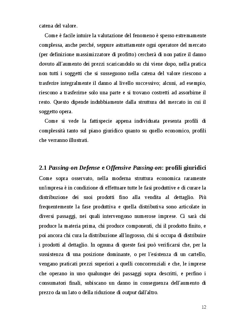 Estratto dalla tesi: Sulla violazione delle norme antitrust nella U.E.: azioni risarcitorie e traslazione del danno.