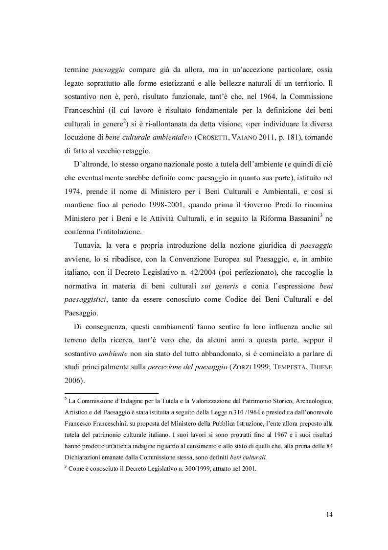 Estratto dalla tesi: Un'applicazione degli indicatori-quadro ispirati alla Convenzione Europea sul Paesaggio nel Veneto Orientale