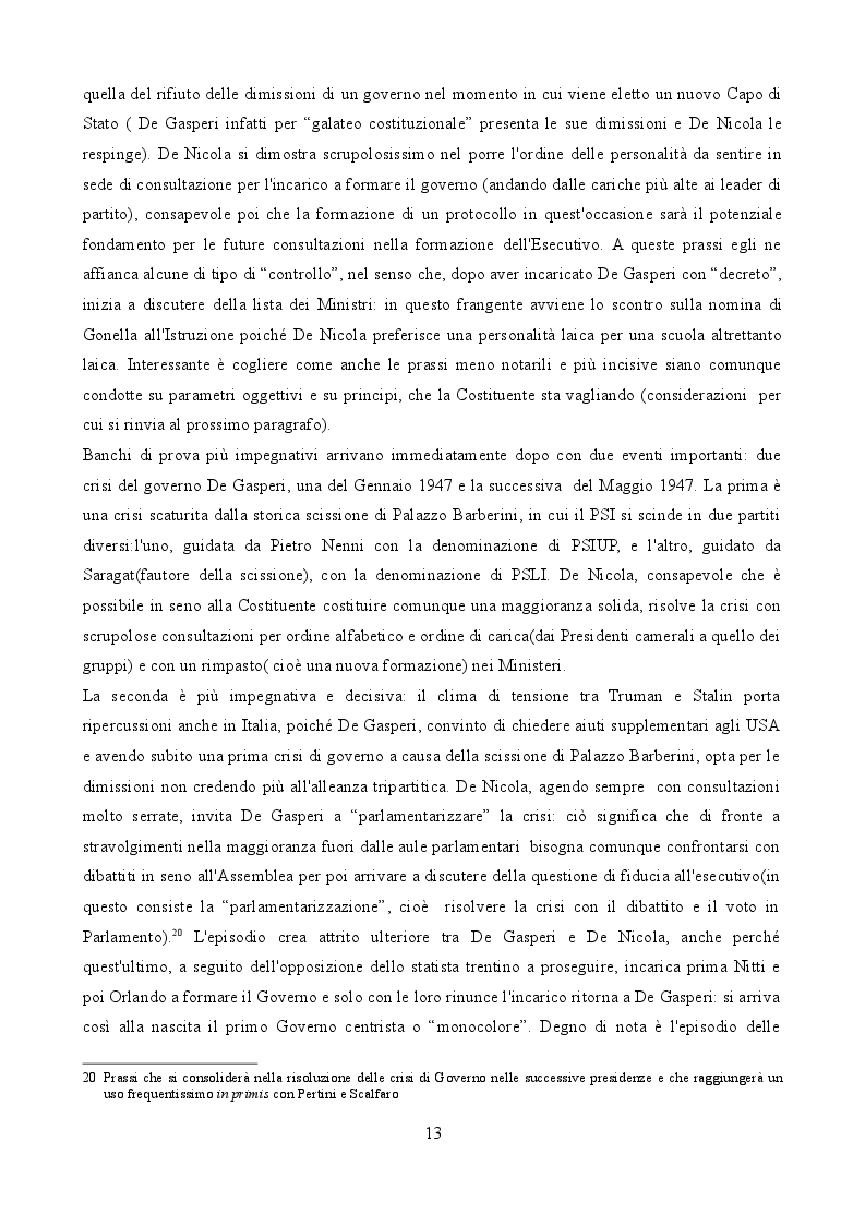 """Estratto dalla tesi: Il """"Governo del Presidente"""": patologia o fisiologia del parlamentarismo italiano?"""