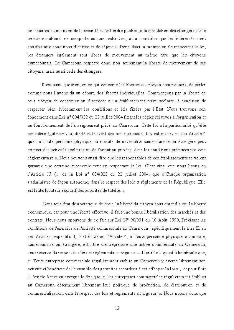 Estratto dalla tesi: Libertés, Droits de l'Homme et Democratie au Cameroun