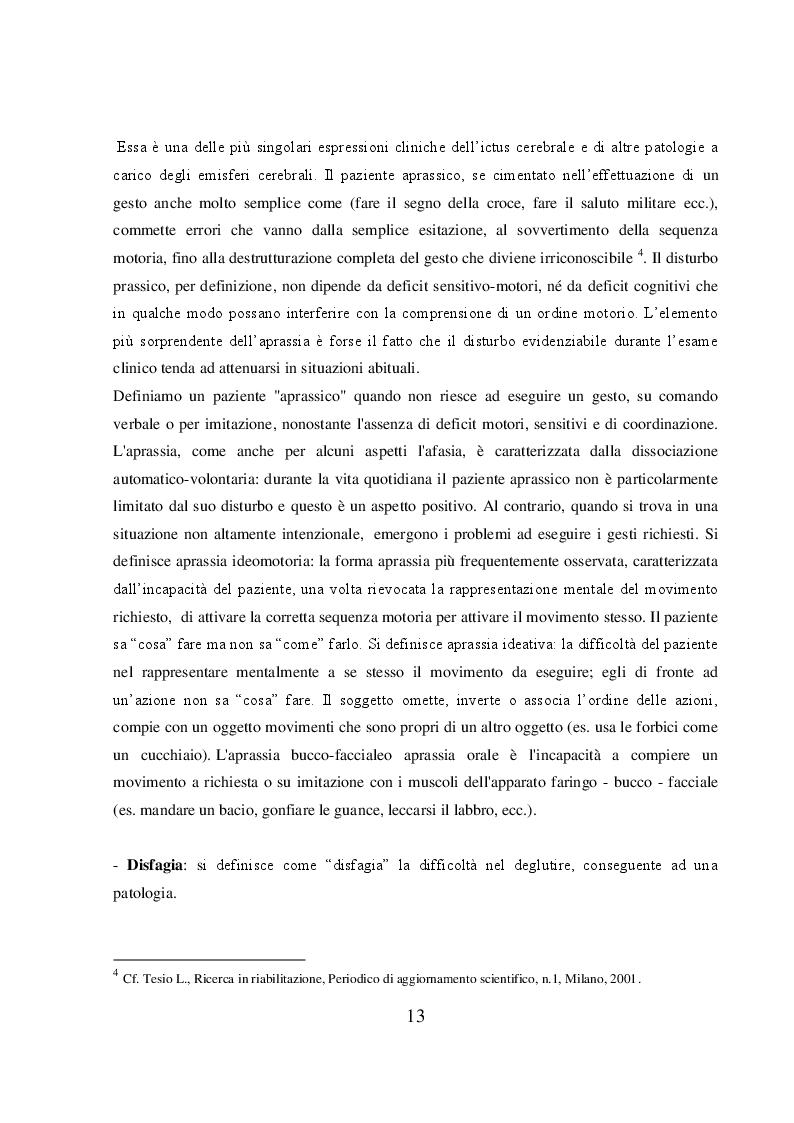 Estratto dalla tesi: Emiplegico in riabilitazione. Ricerca delle attività riabilitative dell'infermiere