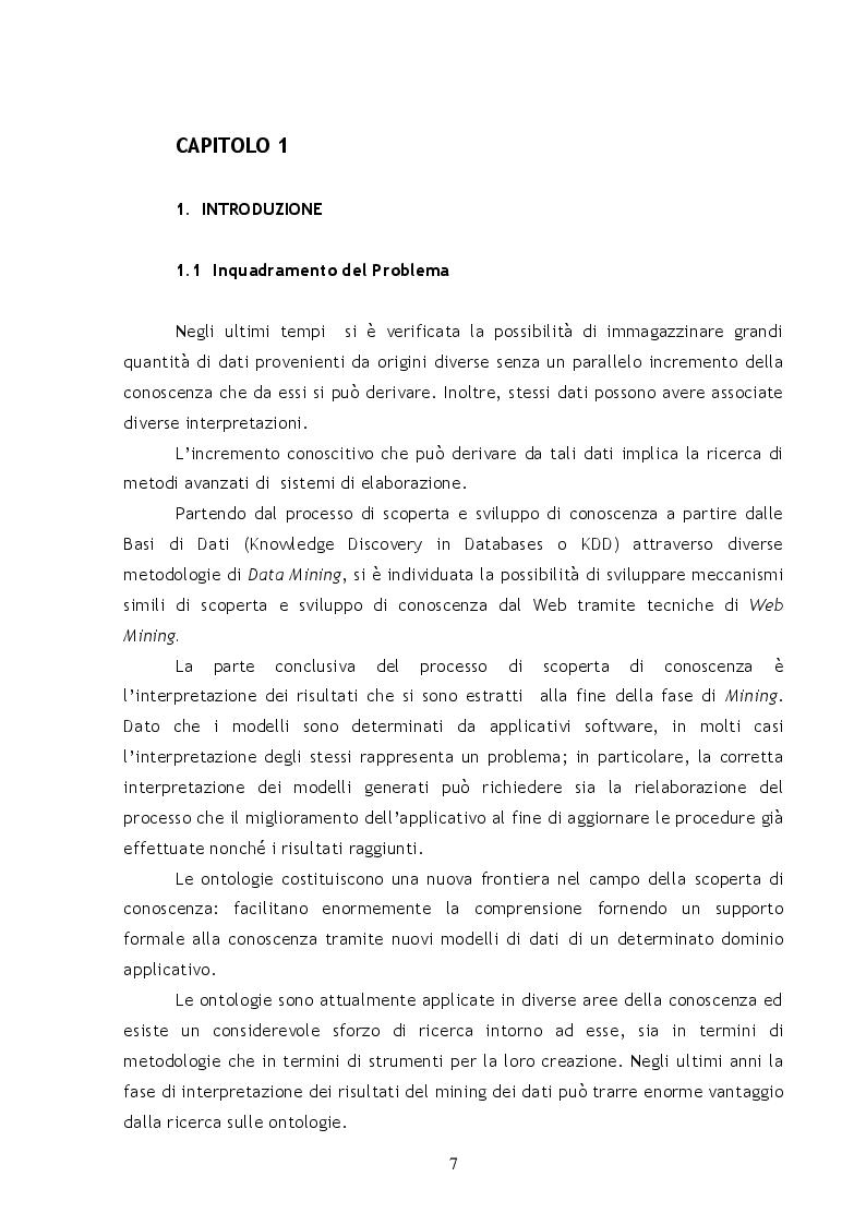 Anteprima della tesi: Metodi e Tecniche per il Semantic Web Mining, Pagina 2