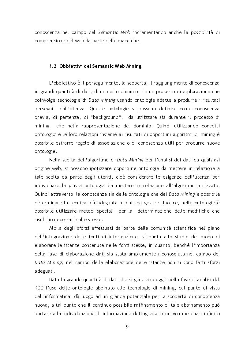 Anteprima della tesi: Metodi e Tecniche per il Semantic Web Mining, Pagina 4