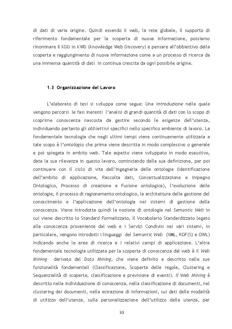 Anteprima della tesi: Metodi e Tecniche per il Semantic Web Mining, Pagina 5