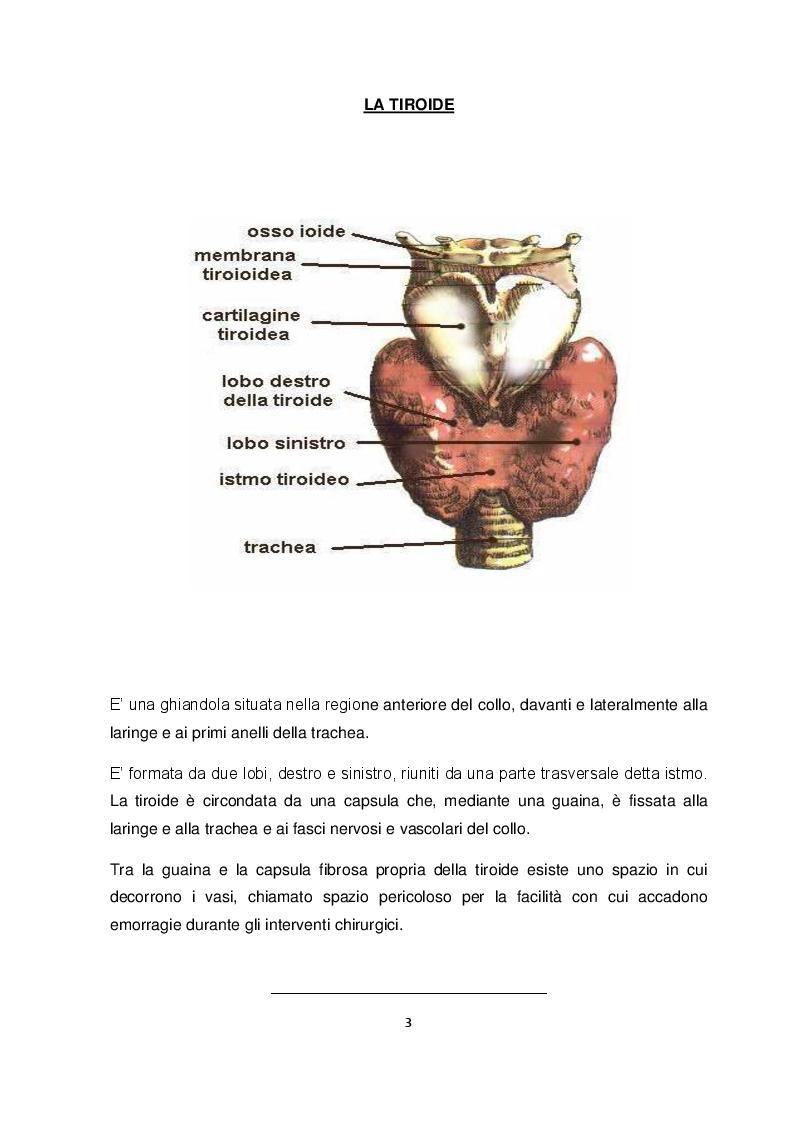 Il trattamento chirurgico dell'ipertiroidismo: assistenza infermieristica al tiroidectomizzato - Tesi di Laurea