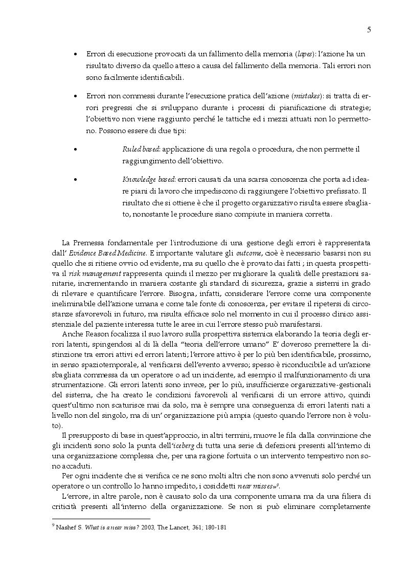 Estratto dalla tesi: Il rischio Clinico nella preanalitica di laboratorio; progetto di studio riguardante potenziali criticità durante il trasporto dei campioni dai distretti alla sede centrale