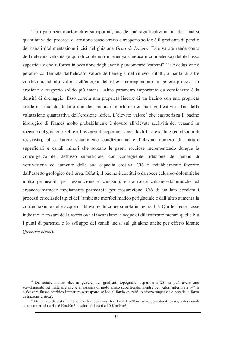 Estratto dalla tesi: Simulazione degli eventi di colata detritica avvenuti nei bacini del Rio Lazer (TN), Fiames (BL) e Cancìa (BL) mediante i codici di calcolo D.F.R.M. e T.R.E.N.T.2D-df