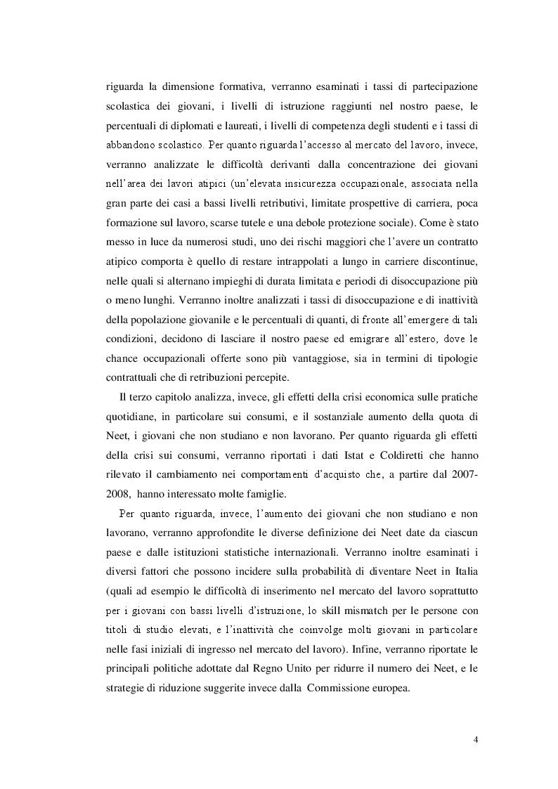 Anteprima della tesi: Senza lavoro e senza studio: i giovani Neet, Pagina 3